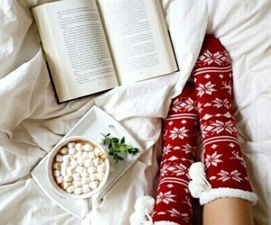 christmas, book, and winter image