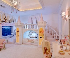 bedroom, castle, and disney image