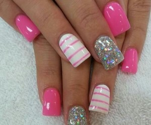 design, nail, and glitter image