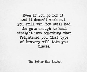 bravery, places, and words image