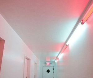 pink, grunge, and exit image
