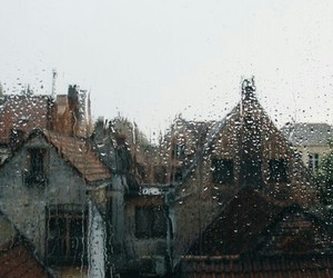 rain, autumn, and window image