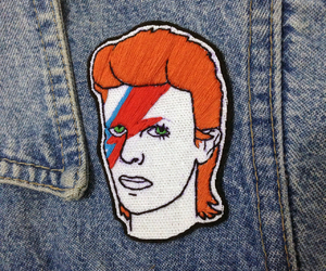 david bowie, embroidery, and music image