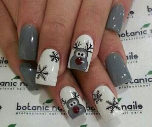 nails, christmas, and white image