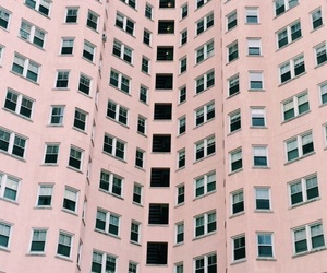 pink, building, and pastel image