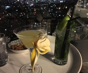 drink, Cocktails, and night image