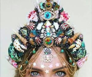 mermaid, crown, and mermaid crown image