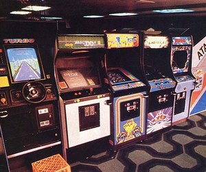 game, arcade, and 90s image