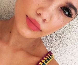 beautiful, freckles, and halsey image