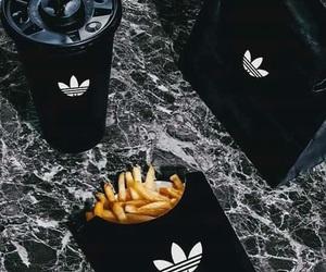 black, chanel, and food image