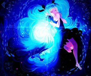 hatsune miku, vocaloid, and deep sea girl image