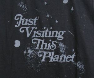 planet, black, and quote image