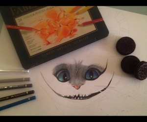 aliceinwonderland, drawing, and follow image