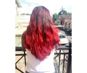 hair, rojo, and red image