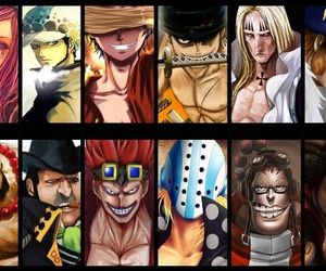 one piece, Law, and luffy image