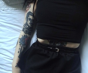 tattoo, black, and girl image