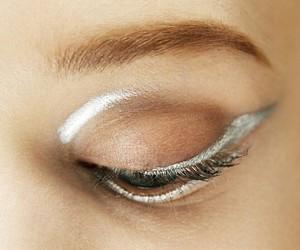 makeup, eye, and silver image
