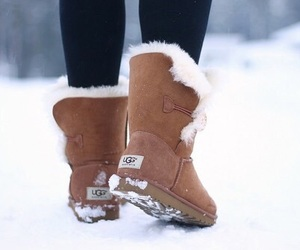 snow, winter, and shoes image