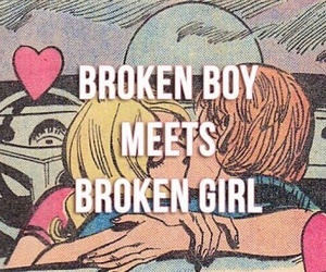 boy, broken, and safety pin image