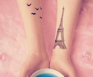 tattoo, paris, and bird image
