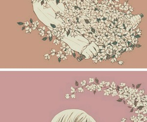 artsy, drawing, and flowers image