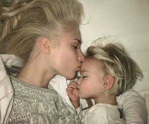blonde, family, and kids image