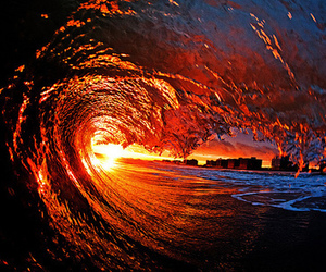 waves, sea, and photography image