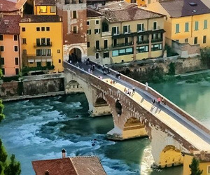 italy, travel, and verona image
