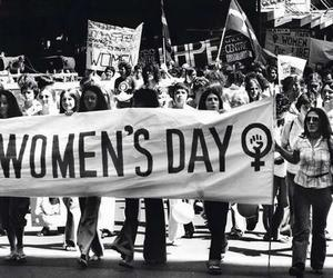 woman, women's day, and black and white image