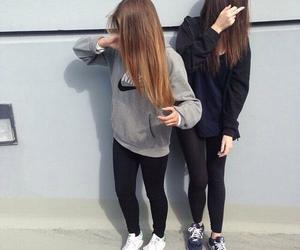 girl, nike, and friends image