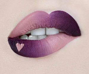 lips, heart, and makeup image