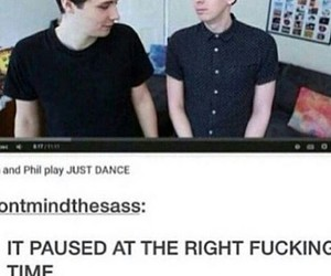 just dance, heart eyes, and dan and phil image