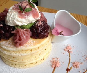 food, pancakes, and pink image