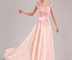 evening dresses, prom dress, and pink prom dresses image