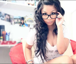 girl, swag, and glasses image