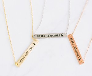 christmas necklace, christmas jewelry, and winter jewelry image