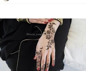 design, girl, and henna image