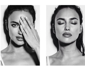 b&w, Irina, and shayk image
