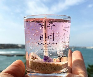 candle, korea, and pink image