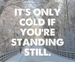 winter, cold, and running image