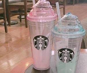 pastel, starbucks, and starbucks cup image