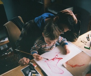 love, boy, and painting image