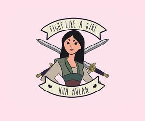 mulan, background, and girl power image