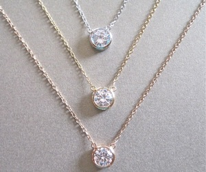 jewelry, diamond, and necklace image