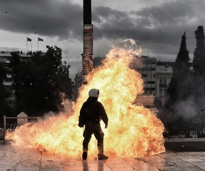 anarchy, fire, and Greece image
