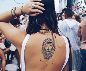 girl, summer, and lion image