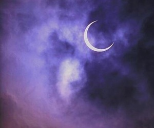 moon, purple, and night image
