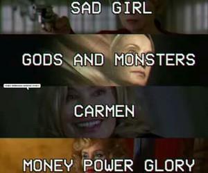 Carmen, money power glory, and sad girl image