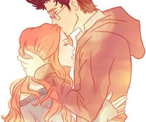 love, harry potter, and kiss image