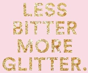 glitter, quotes, and pink image